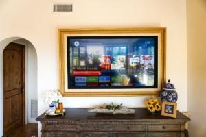 gold tv frame