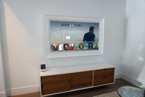Custom White TV frame