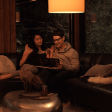 Couple on Couch Smart Home Automation, Audio Video